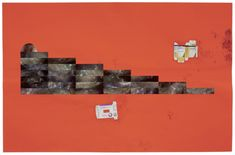 Sterling Ruby Head Steppers 2, 2010. Collage on paper 123,2 x 189,9 cm.