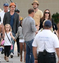 Family time: Brad Pitt and Angelina Jolie hit the seas with their young children during their honeymoon in Malta
