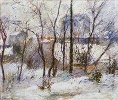 Paul Gauguin, Garden in snow, 1879.