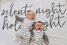 SO in love with this sibling shot on our Silent Night swaddle!