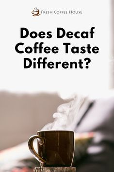 The popularity of coffee remains untainted for centuries. Many of us enjoy a regular cup of joe but need to avoid caffeine due to health issues, overconsumption, or even the time of day. In such cases, decaf coffee can be the answer. Usually, before people switch from their favorite morning pick-me-up to a low-caffeine alternative they seem to wonder if decaf coffee tastes differently? #coffee Coffee Cream, Coffee Type, Black Coffee, Coffee Canister, Coffee Spoon, Coffee Cans, Types Of Coffee Beans, Different Types Of Coffee, Coffee Tasting