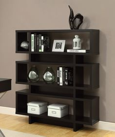 Love this Cappuccino Modern Bookcase by Monarch Specialties on #zulily! #zulilyfinds