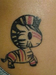 Karla's new tattoo from Black Banditz on Melrose is really cute! It's her very first tattoo and she ♥ s it! #tokidoki #zebra Send in your photos to inked@tokidoki.it