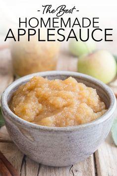 Best Apples For Applesauce, Homemade Applesauce, Applesauce Recipes, How To Make Applesauce, Applesauce Cookies, Fruit Recipes, Apple Recipes, Baby Food Recipes, Marmalade