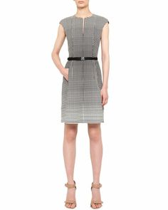 Dotted Dégradé Belted Dress by Akris punto at Neiman Marcus.