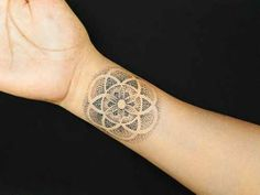 Cute and rather subtle pointillism wrist tattoo.