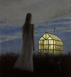 ..so lovely and tragic!   The Greenhouse by ARON WIESENFELD (Solo Exhibition - new paintings)
