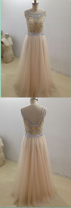 Sexy Prom Dress,Sleeveless Beaded Prom Dress,Chiffon Evening Dress,Long