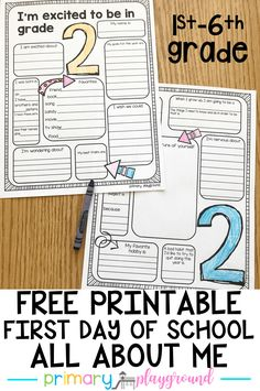 free printable back to school all about me #backtoschool #firstdayofschool #allaboutme