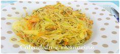 Spaghetti alla piastra con verdure
