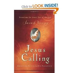 Jesus Calling by Sarah Young <-- This book is a huge blessing to me each day.  Each daily message has a way of speaking directly to my heart.  LOVE! LOVE! LOVE! and SO grateful to have it!