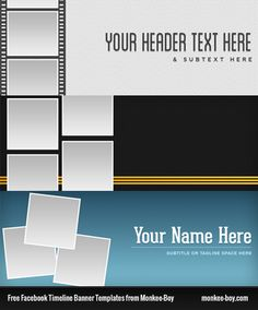 Free Monkee-Boy Facebook Timeline Banner Templates #psd #resources
