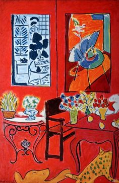 Le chat aux poissons rouges d 39 henri matisse art for Interieur rouge matisse