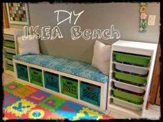 DIY Storage Bench with IKEA (EXPEDIT or KALLAX) Shelf by liza