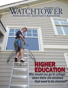 Why get an education, when you can believe in mythology. A joke most ex dubs will recognise. The JWs don't like further education, most end up as window cleaners so they can devote their time to Jehovah and not expand their minds at college. Ex Jehovah Witness, Jehovah S Witnesses, Further Education, Higher Education, List Of Behaviors, Jw Humor, Innocent Child, Religion And Politics, Window Cleaner