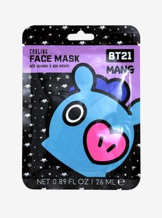 BT21 Mang Cooling Face Mask #CucumberFaceMask Honey Face Mask, Best Face Mask, Le Mans, Cucumber Face Mask, Tumeric Face, Clean Face, Wash Your Face, Travel Size Products, The Balm