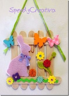 art crafts for kids spring / art crafts for kids Easter Arts And Crafts, Preschool Arts And Crafts, Arts And Crafts For Adults, Craft Kits For Kids, Easter Projects, Bunny Crafts, Easter Activities, Kids Crafts, Art For Kids