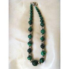 Chunky Malachite necklace, 44cm Malachite, Gemstone Jewelry, Women Jewelry, Beaded Necklace, Range, Jewellery, Gemstones, Handmade, Design