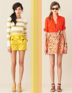 j crew love the yellow shorts :)