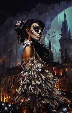 http://www.deviantart.com/art/Sugar-Skull-Woman-520174617