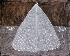 Jivya Soma Mashe  - looks like a coral... or a knitted fan...mixed media???