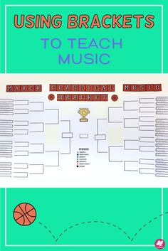 How to Use a Music Bracket in Your Classroom - Teaching Orchestra, Teaching Music, Music Classroom, Music Teachers, Classroom Decor, Middle School Music, Elementary Music, Elementary Education, Music Lessons