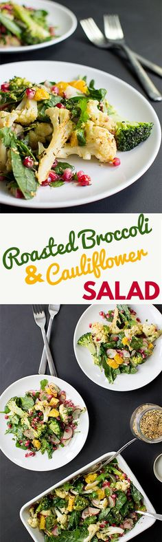 Roasted Broccoli and Cauliflower Salad - The New Superdish | hurrythefoodup.com