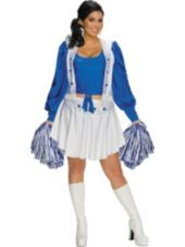 Sexy Plus Size Dallas Cowboys Cheerleader Costume - Party City  sc 1 st  Pinterest & Hot Sexy Halloween Dallas Cowboys Cheerleader Costume M Womens US ...