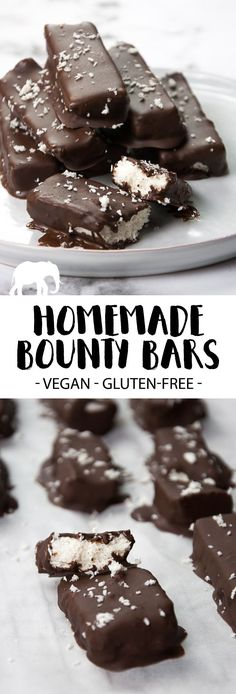 Vegan Bounty Bars via @elephantasticv