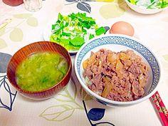 吉野家風牛丼初めて作りました、(^-^) 吉野家から貰った丼に盛り付けました。(^.^) - 1件のもぐもぐ - 牛丼 by glendasato