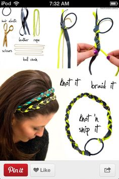 How to make bejewled braided headbands