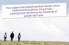 Thanks to research, more people are surviving bowel cancer than ever before. Five year survival rates have doubled over the last 40 years. We couldn't do it without your help so thank you! However, we are all too aware that there is much more we need to do to beat not just bowel cancer, but all cancers. Share this image with your friends and family to #ActNowForResearch.