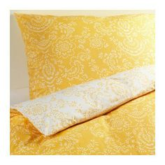 ÅKERTISTELDuvet cover and pillowcase(s), yellow,Full/Queen (Double/Queen)  $29.99  Price reflects selected options