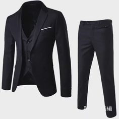 2019 Fashion Men Three Pieces Of Business Suit Dress Wedding Suit Dark Fashion, Fashion Men, Wedding Suits, Dress Wedding, Tom Ford Men, Office Wear, Mens Suits, Blazer Suit, Casual