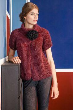 Lana Grossa PATENTMUSTER-JACKE Lace Paillettes/Tiffany - FILATI Handstrick No. 57 - Modell 50   LANA GROSSA Outlet Shop FILATI