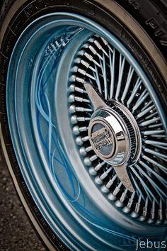 Custom lowrider wire wheel - hand painted