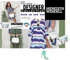"""Color Theory with Meredith Wendell"" by anne-symanski-goranson ❤ liked on Polyvore"