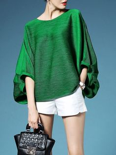Pleated Batwing #T-Shirt