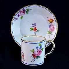 Sèvres Porcelaine Dure Tasse Litron 18ème Bouquets