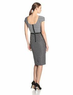 Taylor Dresses Women's Cap Sleeve Geo Print