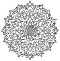 Mandala 706, Creative Haven Kaleidoscope Designs Coloring Book, Dover Publications