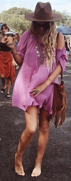 Wild Orchid Smock Dress                                                                             Source