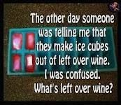 I agree ... what is left over wine?
