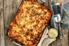 Lasagne slik som kokkene lager den Mozzarella, Ciabatta, Bacon, Food And Drink, Cheese, Den, Recipes, Lasagna, Recipies
