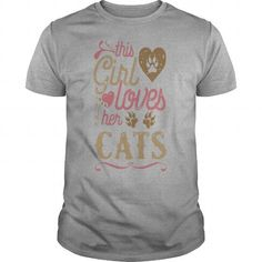 This Girl Loves Her Cats T-Shirts