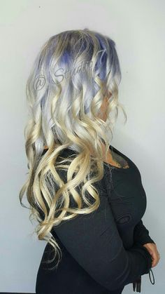 Hair creations, colored hair,  awesome hair, studio 7, silver, platinum, lavender, color melt, triple color melt, gorgeous