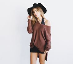 98c5375a83d816 loving the bralette look and hat such a cute outfit
