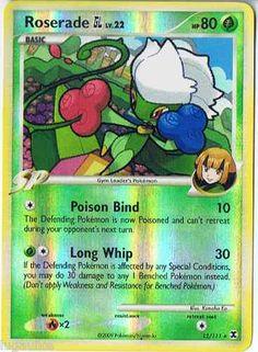 Pokemon Card Rising Rivals Reverse Holo Rare Roserade GL 12/111 FREE comb ship