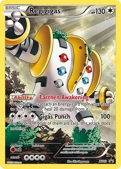 Regigigas (Full Art Promo) - XY Promos, Pokemon - Online Gaming Store for Cards, Miniatures, Singles, Packs & Booster Boxes Pokemon Dex, Pokemon Stuff, Pikachu, Pokemon Go Cards, Dragon Type Pokemon, Pokemon Weaknesses, Pokemon Online, First Day Of School Activities, Pokémon Cards