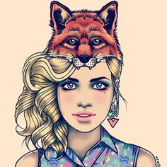 Rick Lee--YES!!! A blonde with a fox. Give her brown eyes & she's perfect!